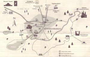 Mapa de la zona del castillo de Neuschwanstein