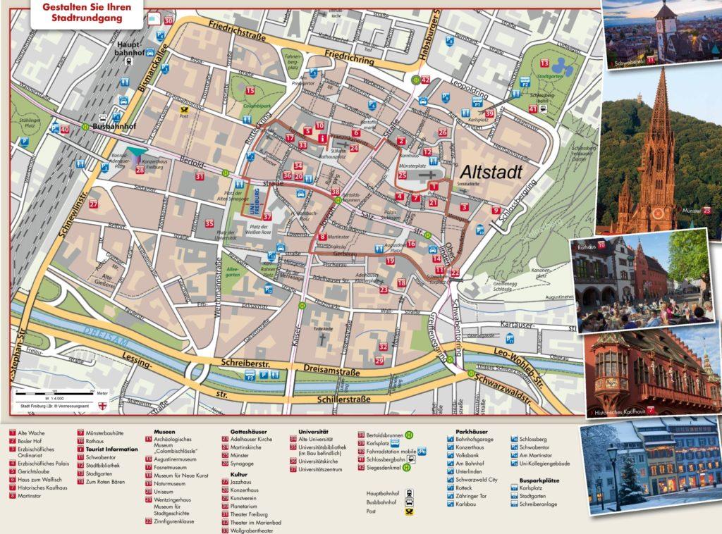 Mapa turístico de Friburgo