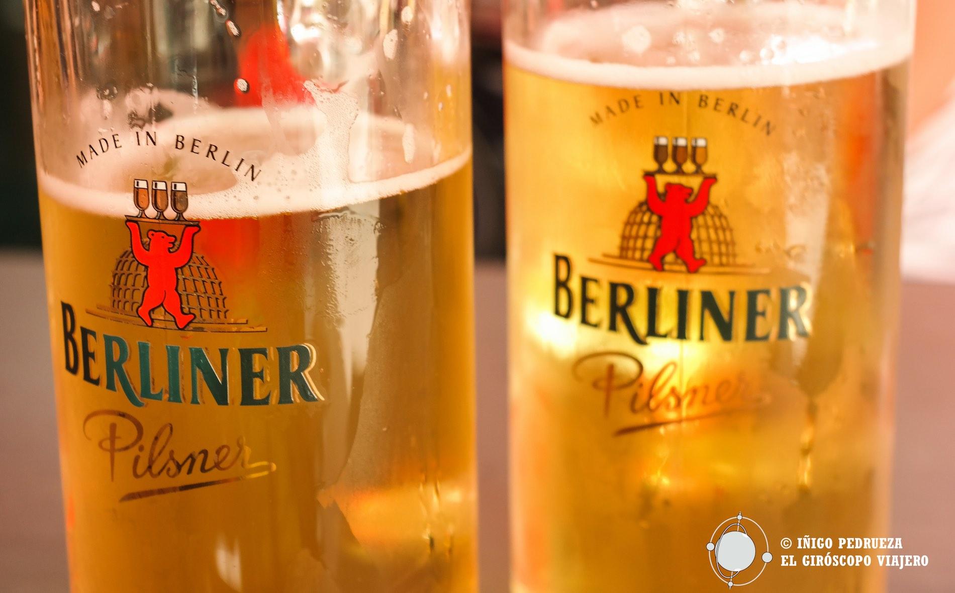 Cerveza Berliner, una de las más típicas de la ciudad. ©Iñigo Pedrueza.