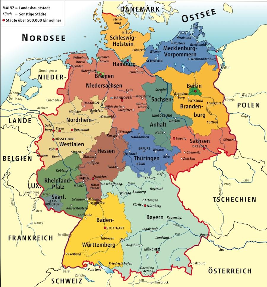 Los Länder, las regiones de Alemania