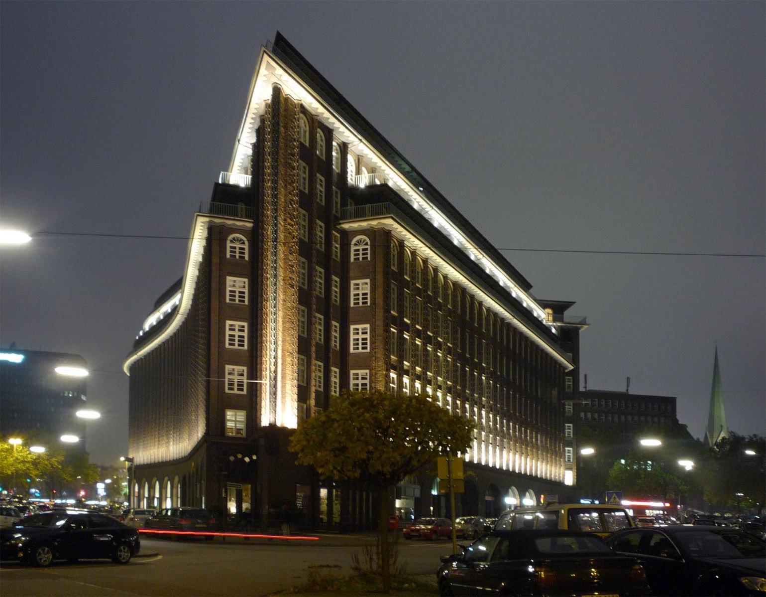 Impresionante edificio Chilehaus, de los años 20, moderno y vanguardista aún hoy.