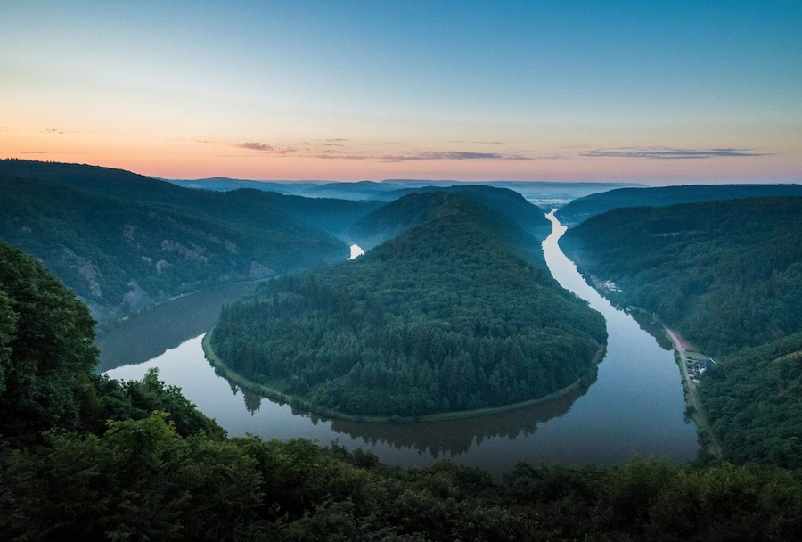 Meandro del Mosela, una de las imágenes icónicas del länder y de toda Alemania.