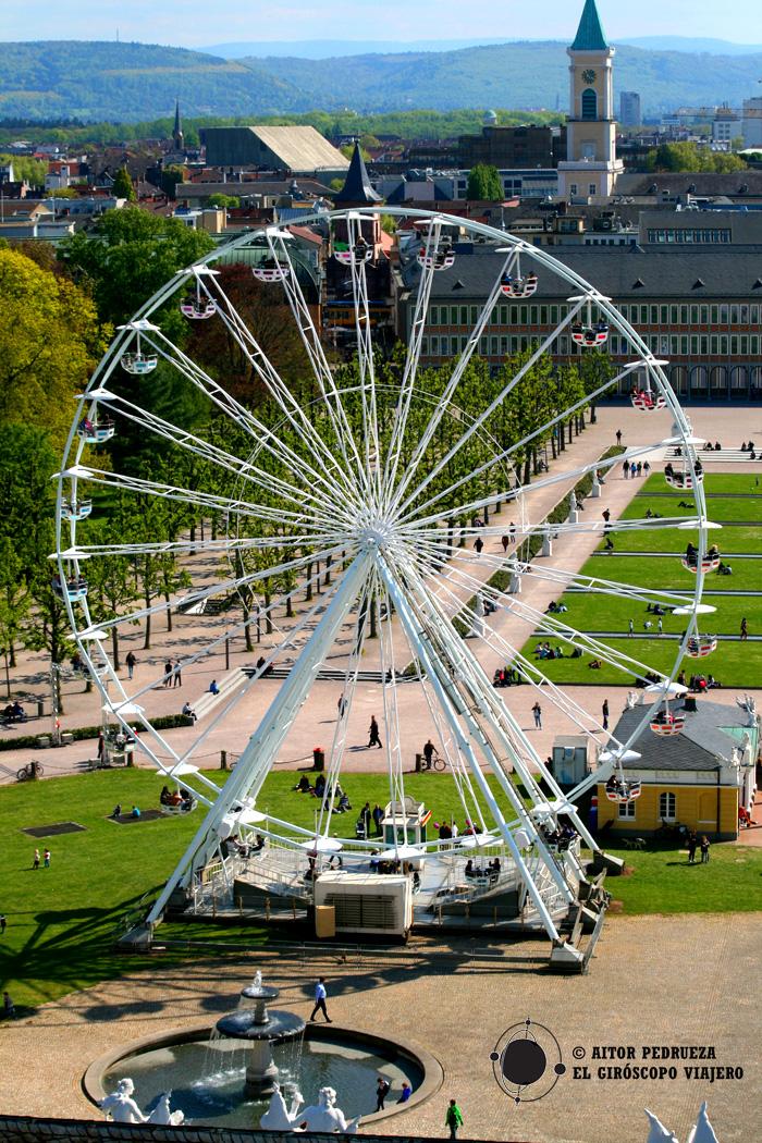 La moderna ciudad de Karlsruhe