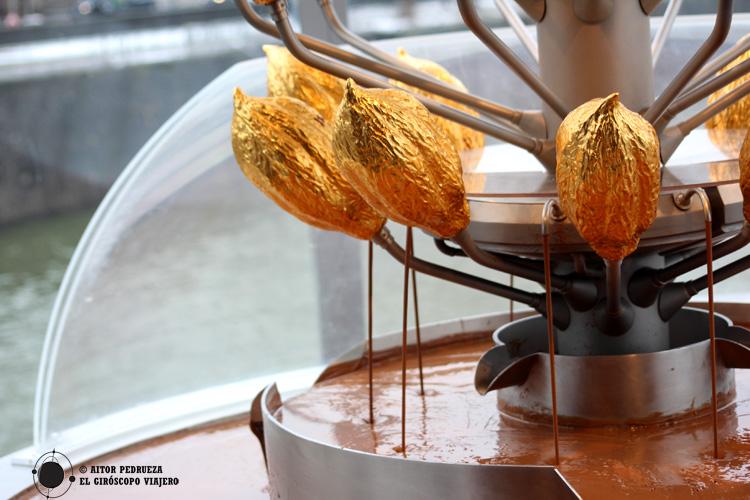 Fuente en el Museo del Chocolate de Colonia